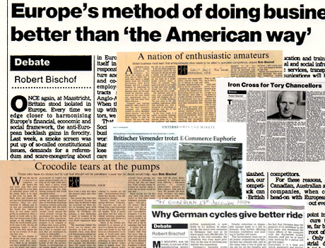 Bob Bischof in the Financial Times, Guardian and other newspapers