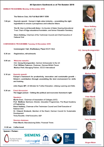 Investment in Skills: the German-British Forum Conference