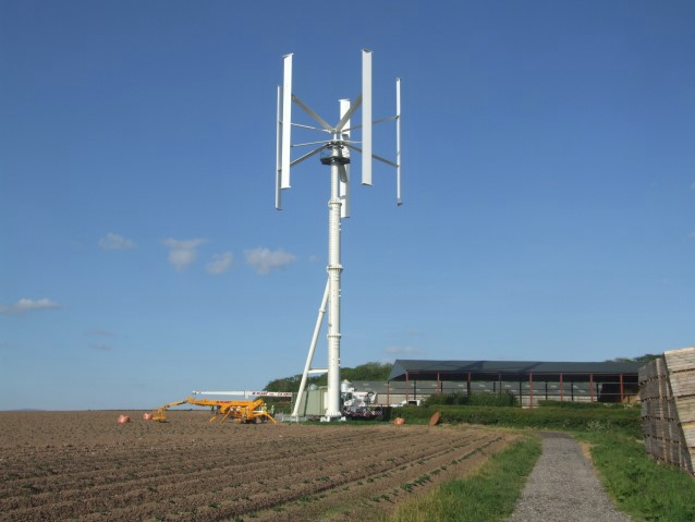 how to build a vertical axis wind turbine