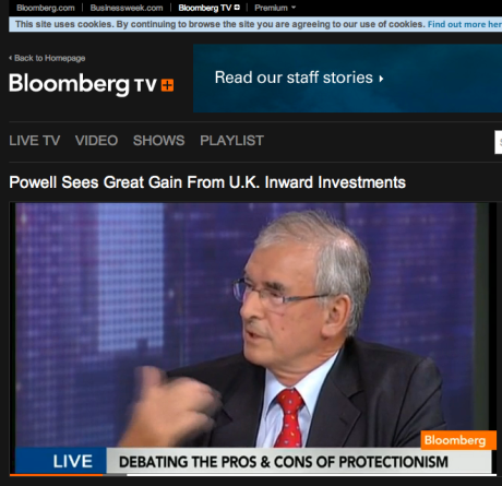 Bob Bischof discusses European protectionism on Bloomberg TV