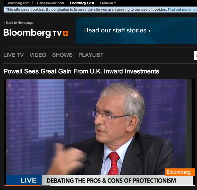 Bob Bischof discusses European protectionism on Bloomberg TV