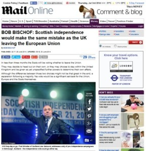 Scottish Independence a Mistake